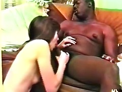 Lovely amateur wife blowing and jerking big black cock for cuckolding porn
