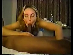 Two lusty white ladies take on big black cock in a hotel room